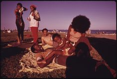 Hanging at the beach has always been fun, and here& the proof. Check out these awesome vintage photos, brought to you by Bud Light Lime Straw-Ber-Rita, the drink of Summer Afro, South Side Chicago, Photo Maps, Black Families, Black Couples, African American Hairstyles, My Black Is Beautiful, Photo Black, Lake Michigan