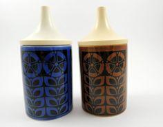 Vintage Hornsea Pottery 1960s Gourmet 66 Two Vinegar Bottles (Blue and Brown) in Pottery, Porcelain & Glass, Pottery, Hornsea | eBay