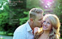 Rae Lyn is glowing as Shane offers a kiss on the cheek. How cute! They made their wonderful wedding website on @weddingwoo