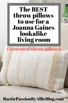 50 of the best farmhouse pillows and throw pillow covers for cheap. If you are looking to decorate your couch bedroom entryway bench or living room ar Farmhouse Light Fixtures, Farmhouse Lighting, Home Renovation, Farmhouse Throws, Farmhouse Bed, Vintage Farmhouse, Modern Farmhouse, Throw Pillow Covers, Throw Pillows