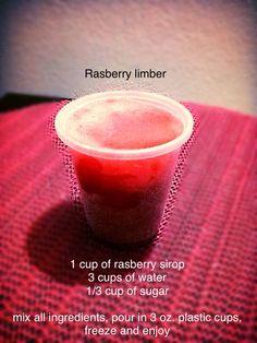 Rasberry limber Comida Boricua, Boricua Recipes, Water Ice Recipe, Limber Recipe, Puerto Rico, Mantecaditos, Puerto Rican Recipes, Caribbean Recipes, Frozen Meals