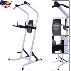 Chin Up Stand Pull Up Bar Dip Power Tower Home Gym Exercise Fitness Workout