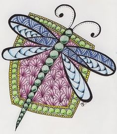 One of 15,144 from   http://pinterest.com/judywillinghamr/?d  with wonderful zentangles and mandelas and art galore.    DragonflyZen