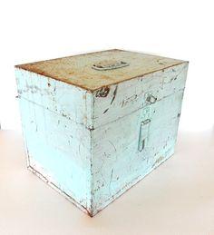 Shabby Chic File Box...In Pale Aqua Blue