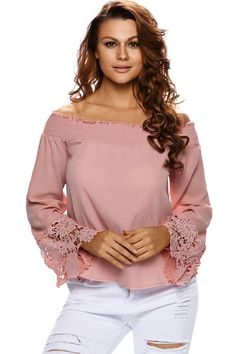 We are totally loving off shoulder style~~~this blouse make me blush  #maykool #blouse #offshoulder #women #fashion