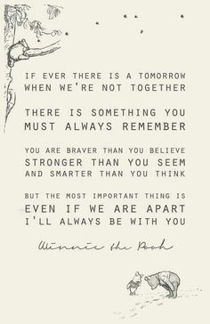 The best quote about friendship ever, from Christopher Robin to Winnie the Pooh. Love you Pooh! Life Quotes Love, Cute Quotes, Great Quotes, Inspirational Quotes, Baby Quotes, Top Quotes, Quotes For My Kids, Always There For You Quotes, My Son Quotes