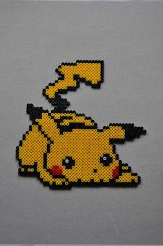 Pikachu perler by Michiresu.deviantart.com on @deviantART