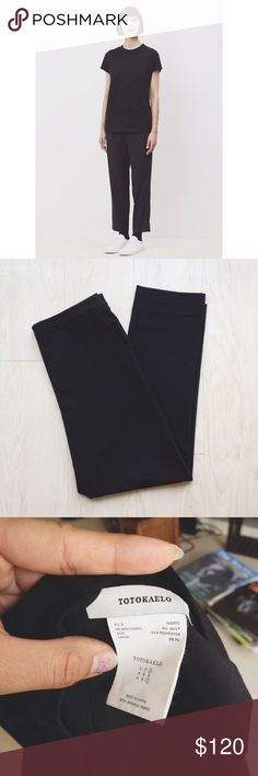 Totokaelo • straight leg pant Very cute and comfy pants from the totokaelo brand. Size large with a slight drop crotch. Elastic pull on style. Totokaelo Pants