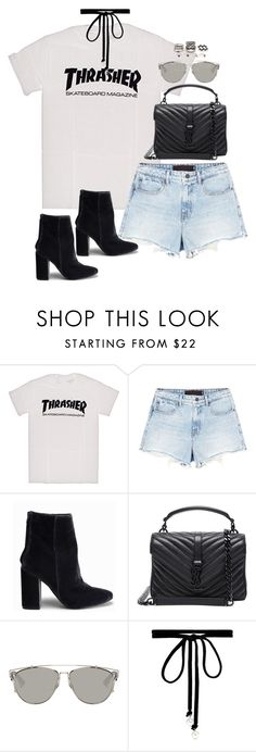 """""""Sem título #4936"""" by fashionnfacts ❤ liked on Polyvore featuring Alexander Wang, Nly Shoes, Yves Saint Laurent, Christian Dior, Joomi Lim and Forever 21"""