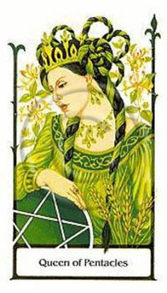Tarot of the Old Path~Queen of Pentacles