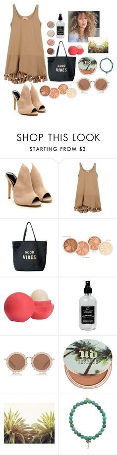 """""""Summer Vibes"""" by shesanies ❤ liked on Polyvore featuring N°21, Venus, Terre Mère, Eos, Little Barn Apothecary, House of Holland, Urban Decay and Sydney Evan"""
