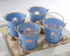 beach wedding - Google Search buckets to put rose petals in for after they are married.  Can you do this on the beach