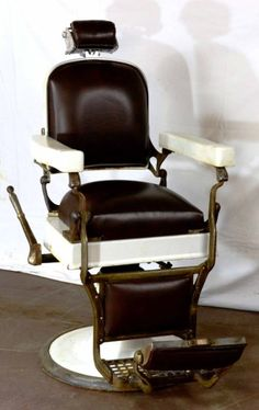 Antique Porcelain Barber/Dentists Hydraulic Chair by Koken Co. - Sold $650