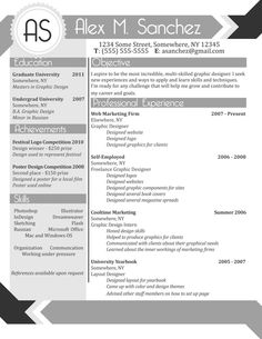 Custom Designed Resume