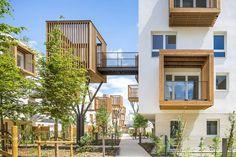 Atelier d'architecture Brenac+Gonzalez & Associés - Cabanes perchées: premières vues de notre opération de logements à Romainville. Crédit Photo: Sergio Grazia