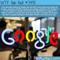 The perks of working at Google - Facts