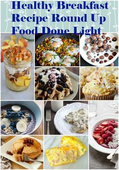 Healthy Breakfast Recipe Round Up - Low Calorie Low Fat - Pin it to your Breakfast board