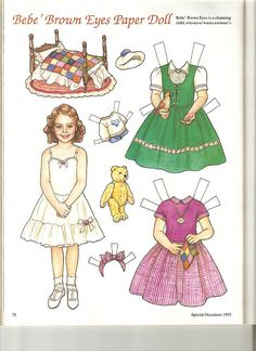 Sew Beautiful paper doll Bebe 1 by Lagniappe*Too, via Flickr