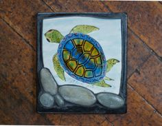 Father's Day Gifts : Turtle Art Tile Handmade Ceramic by PatWarwickTiles on Etsy, $150.00