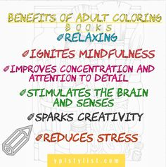 The Benefits Of Adult Coloring Books Infographic