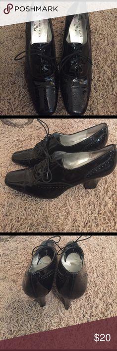 Selling this Ak Anne Klein iflex Patton leather black shoes on Poshmark! My username is: glamour4sale. #shopmycloset #poshmark #fashion #shopping #style #forsale #ak anne klein iflex #Shoes
