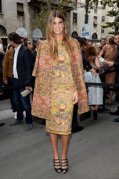 Front Row semanas de la moda Milan primavera verano 2014 - Bianca Brandolini | Galería de fotos 5 de 74 | Vogue México