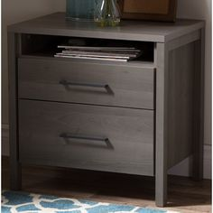 master bedroom nights stand options South Shore Gravity 2 Drawer Nightstand & Reviews | Wayfair