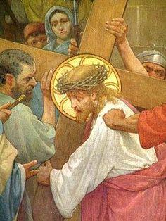 Detail uit een statie in de Sint-Nicolaaskerk
