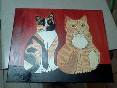 Cat painting , By: Laura Ashley