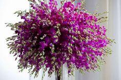 orchid centerpiece.