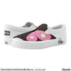 Girly Fashion Pink Butterfly Slip-on Shoes