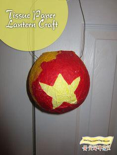 Tissue Paper Lantern Craft