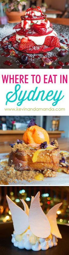 Where to Eat in SYDNEY! Sydney, Australia has the most AMAZING food scene!! Here is the ultimate guide to foods you MUST try when youre in Sydney. (And trust me, its NOT vegemite!) This post has me ready to hop on a plane right now!