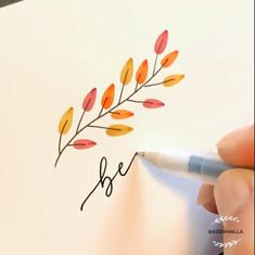 How To Draw Autumn Leaves. Worldwide Tracked Shipping - Bastelarbeiten - DIY and Craft Bullet Journal Writing, Bullet Journal Ideas Pages, Bullet Journal Inspiration, Hand Lettering Art, Hand Lettering Tutorial, Brush Lettering Quotes, Doodle Drawings, Easy Drawings, Pen Drawings
