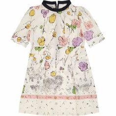 Marni Floral- & Cat-Print Dress at Barneys.com
