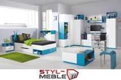 Meble Młodzieżowe Białe MOBI B - Styl-Meble24.pl