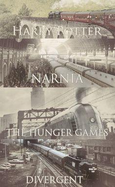Trenes son símbolos de buenas historias. Esto es probable mente por lo que se usan en las novelas.