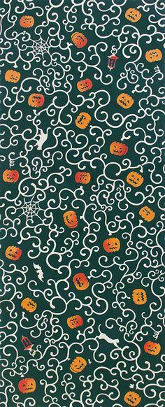 Kenema - Halloween Karakusa Nankin (The dyed Tenugui) Japanese Tradition Cotton Towel (The dyed Tenugui) Tenugui is a Japanese traditional cotton Origami Paper, Tis The Season, Towel, Japanese, Traditional, Cool Stuff, Halloween, Arabesque, Pumpkin