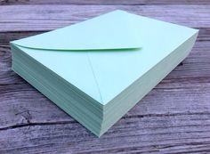 50 A7 5x7 or 4Bar 3.5x5 Envelopes Mint Green 5x7 Paper Source Invitation or RSVP Envelopes Euro Flap Bridal Shower Wedding Invitation