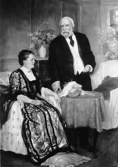 James J. Hill and Mary T. Hill by Caro Dalvaille. 1910 or 1913