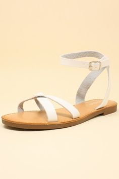 25b4209ad77 Criss Cross Ankle Strap Sandals Icing Ankle Strap Sandals