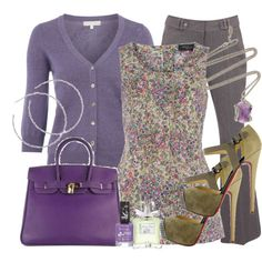 Love these colors/Give me a soft flowing skirt in that same grey as the slacks.