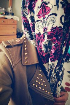 Floral hijab and spikes.