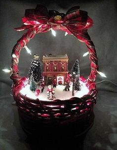 Outstanding Christmas deco info are readily available on our web pages. Christmas Village Display, Christmas Baskets, Christmas Lanterns, Christmas Centerpieces, Christmas Art, Christmas Projects, Winter Christmas, Christmas Tree Decorations, Christmas Wreaths