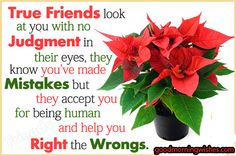 Beautiful Quotes of friends, Good Morning Love Quotes - True Friends look at you