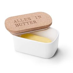 Amazon.com | Sweese 3101 Butter Dish - Porcelain Keeper with Airtight Cork Lid, White: Butter Dishes