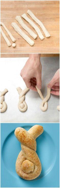 Kreatívan a konyhában: húsvéti nyuszi, koszorú, kosárka kalácstésztából | Szépítők Magazin