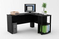 Shop Staples® for Ameriwood Corner Desk with 2 Shelves; Black Ebony Ash and enjoy everyday low prices, plus FREE shipping on orders over $39.99. Get everything you need for a home office or business right here.