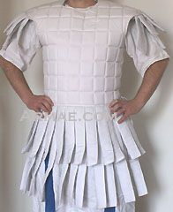 cool quilted armor 'faux roman' idea.