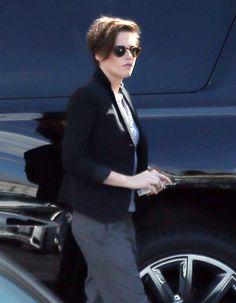 Kristen Stewart was covered up in LA on Wednesday.